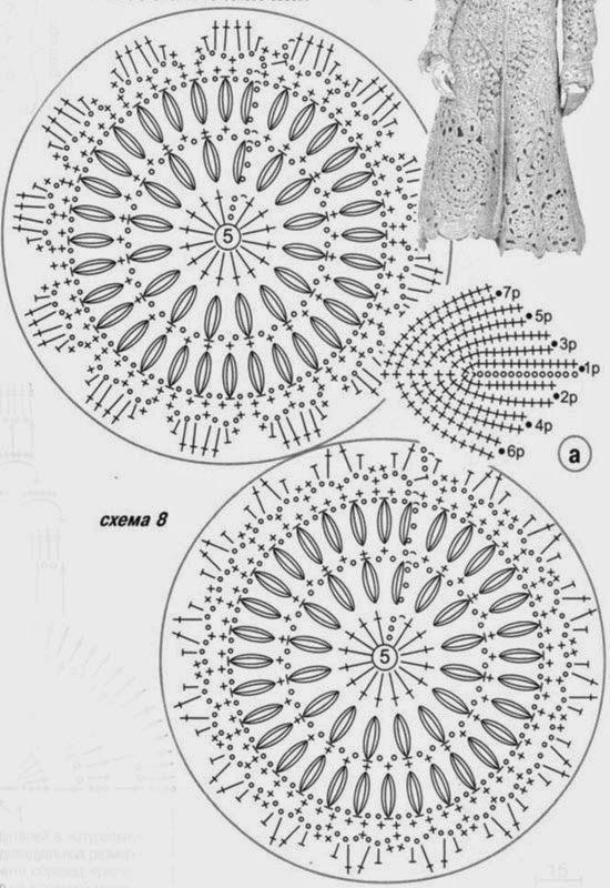 Patterns and motifs: Crocheted motif no. 57