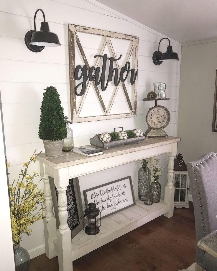 77 Really Cool Living Room Lighting Tips Tricks Ideas: Farmhouse Decor Dining Room