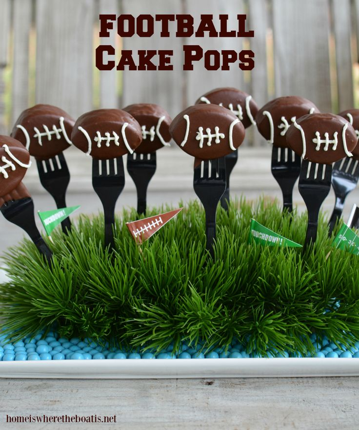 I have asweet ending to your game day line of football food for the Super Bowl, Football Cake Pops, aka Keep Pounding Pops! As you can imagine, Panthers Pride abounds in anticipation of Super Bowl...