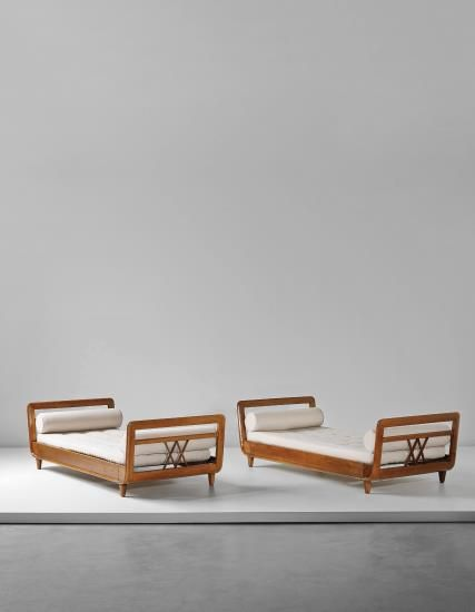 Gio Ponti, unique pair of daybeds, 1935