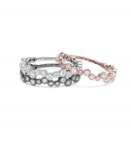 Une alliance originale pour femme en diamants et or Stone, prix sur demande