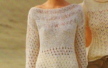 Lavori a maglia: una t-shirt a maniche lunghe