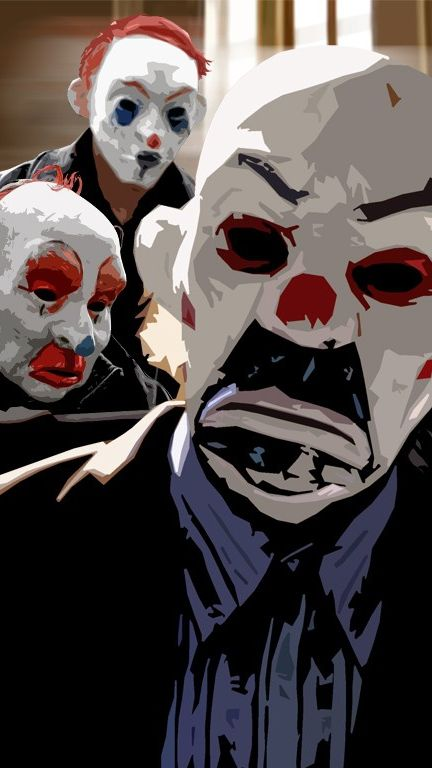 The-Dark-Knight-Joker-Masks-iPhone-Wallpaper