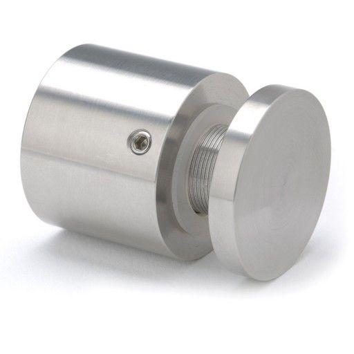 Afstandsbeslag / pladeophæng til en 2-12 mm plade. Lavet i aluminium. Flot og simpel måde at hænge plader op på væggen, eller ophæng til spejle