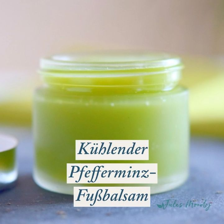 Kühlender Pfefferminz-Fußbalsam   – Beauty und Wellness