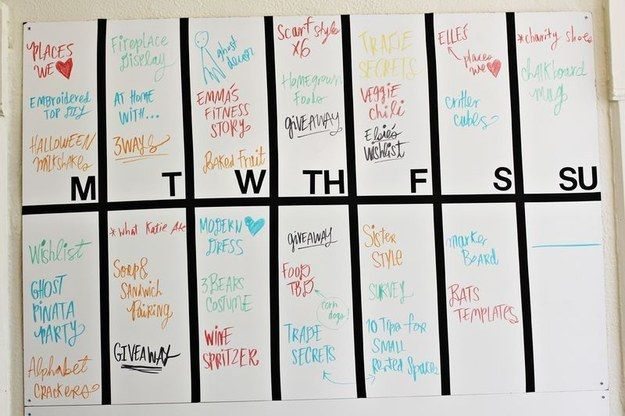 Create an editorial calendar to keep track of ideas and post dates.   19 Ridiculously Useful Tips Every Blogger Should Know