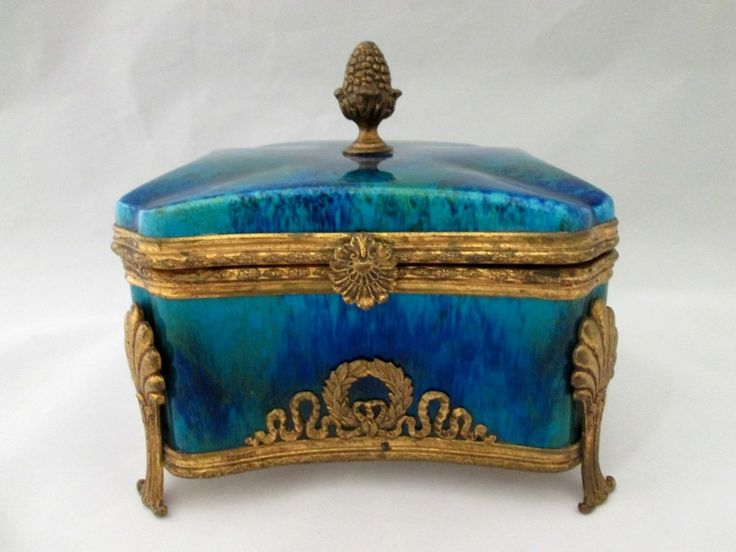 ART DECO PAUL MILET SEVRES VANITY BOX: Caja