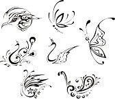 Tatouage Papillon Banque D'Images, Photos, Illustrations Libre De Droits