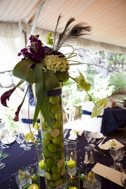 A Refreshing Alternative To The Usual Tall Centerpieces