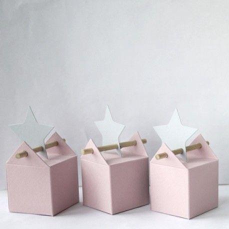 Kit grain de rose, boites à dragées pour baptême - La dragée design : boites à dragées - dragées - faire-part