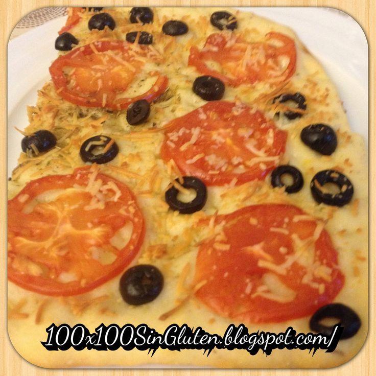Focaccia de tomate y aceitunas negras sin guten paso a paso