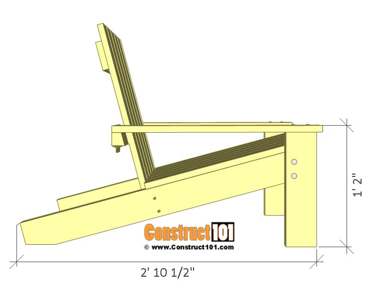 Adirondack Chair Plans Simple Adirondack Chair Plans - DIY Step-By-Step Project - Construct101