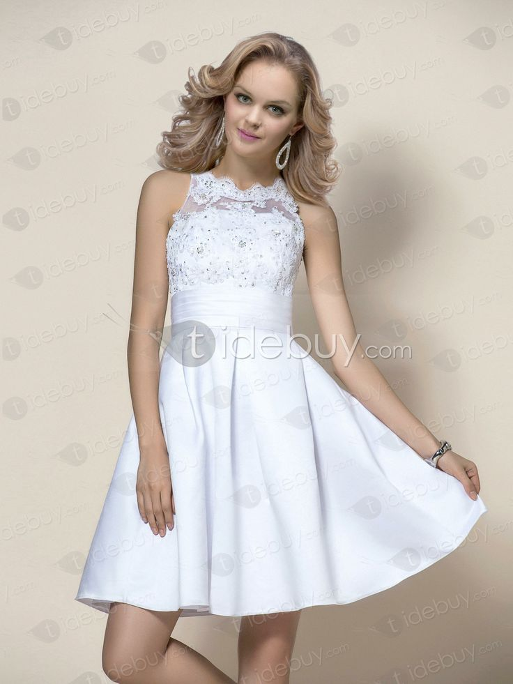 Stunning Short/Mini Beading Appliques Zipper-up Prom/Event Dress : Tidebuy.com