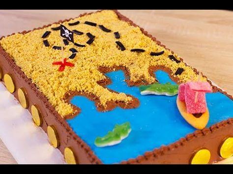 Gateau de pirate / carte aux trésors : parfait pour un anniversaire d'enfant !