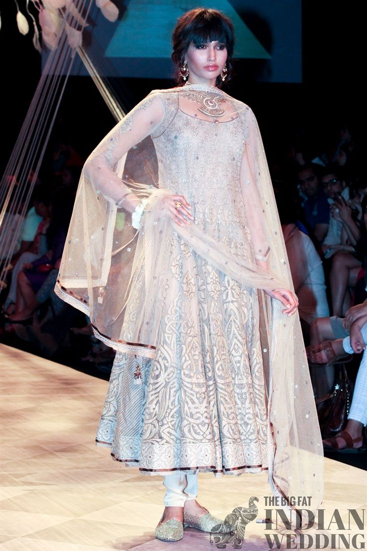 Tarun Tahiliani's spring collection - a wispy white embroidered anarkali dress
