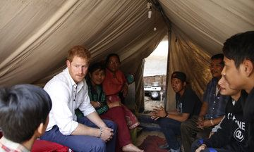 Prince Harry Visits Nepal Earthquake Victims Who Are Still Living In Tents
