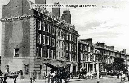 Fire Station, Gresham Road, Coldharbour Lane and Barrington Road, Brixton, London c.1908.
