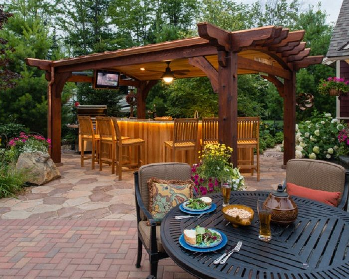 nice craftsman wood patio bar furniture sets with covered ideas - Craftsman Garden Decor