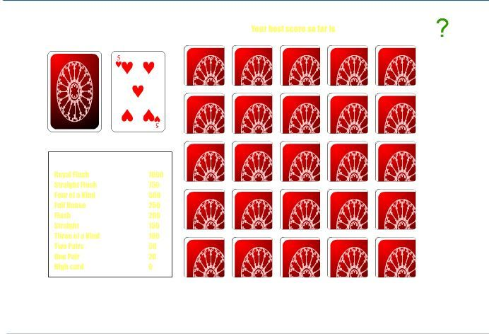 Experience a taste of Vegas when playing Poker Solitaire.