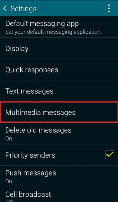 Click Multimedia messages