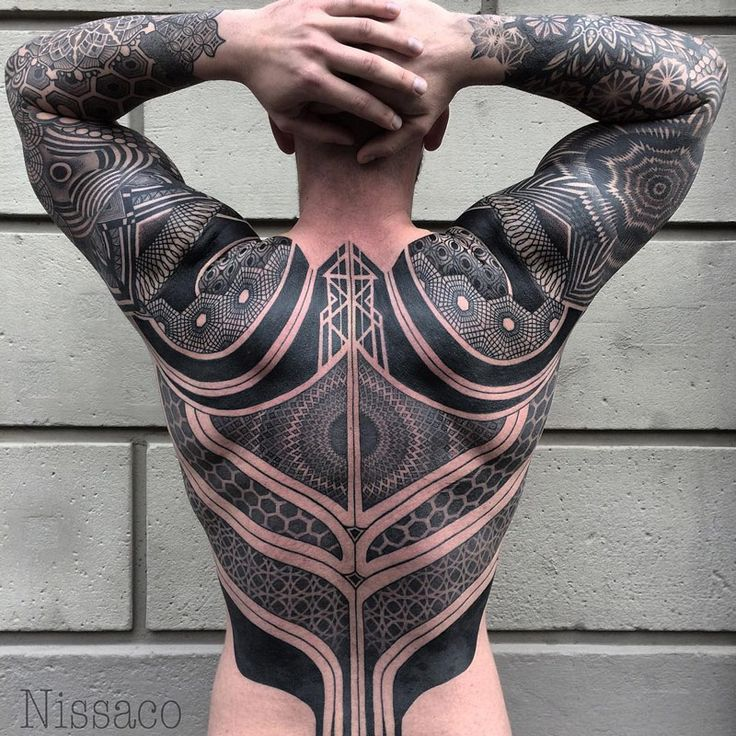 Battle Suit Back Piece | Best tattoo ideas & designs