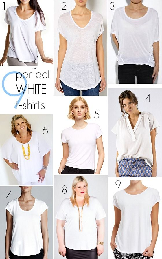 It's a wardrobe basic - the humble white t-shirt. Here's how to find your perfect white t-shirt so you'll always have something to wear.