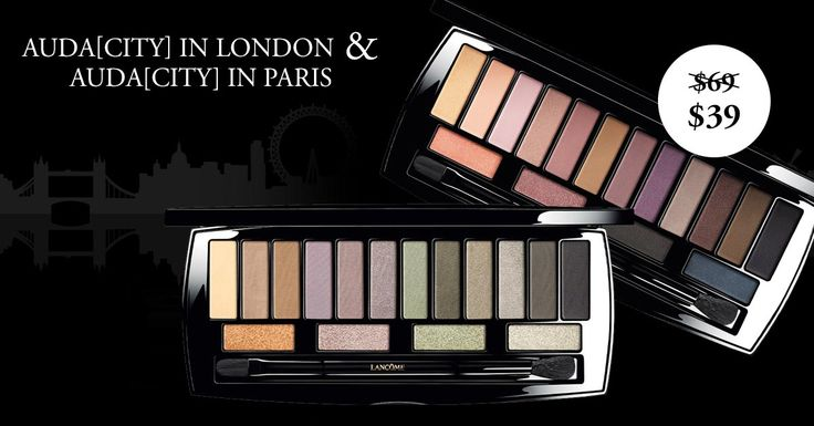 Bold London or French Chic? Enjoy over 40% off bestselling must-have Auda[CITY] palettes. #audacity #bestselling #eyeshadow