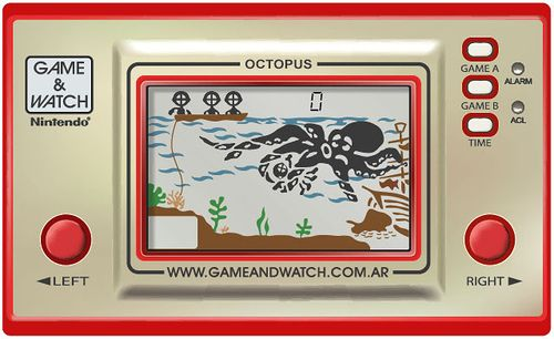 Game And Watch Octopus Nintendo Game Amp Watch Stuff I