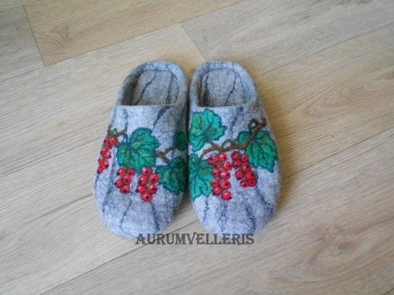 33132781dd443 Felted Slippers READY TO SHIP Women's Wool Gray Slippers Handmade ...