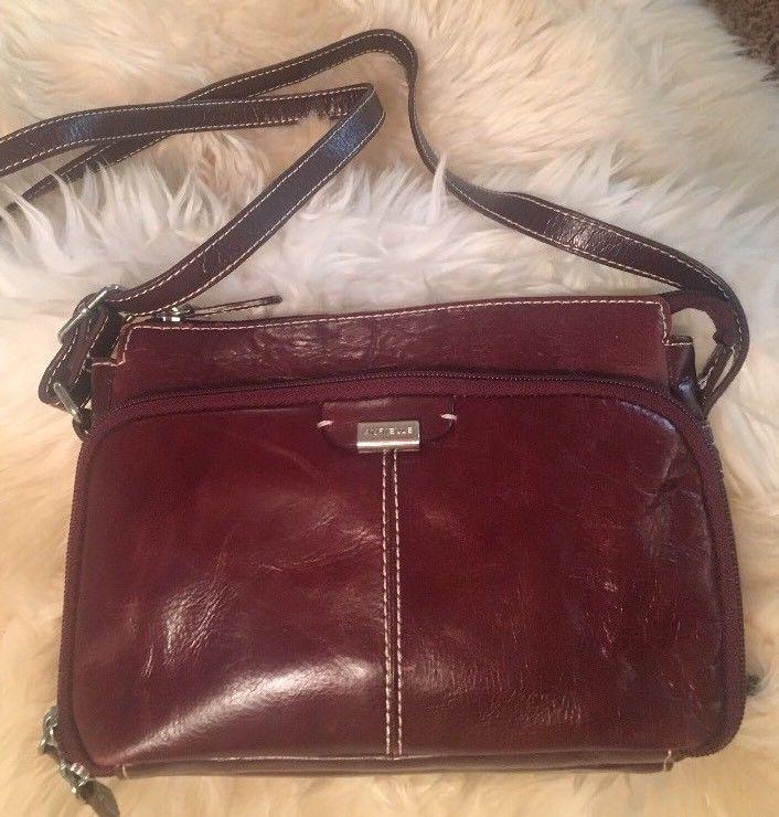 Aurielle Red Genuine Leather Purse Handbag Wallet Style Smooth Shoulder Bag Ebay