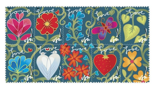 """Cute """"Love"""" Stamps"""