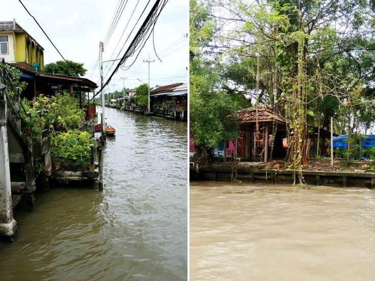 Paseo en canoa mercado flotante Tailandia