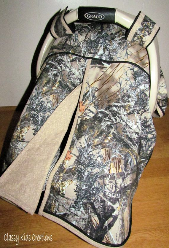 True Timber's MC2 Camo Baby Boy Car Seat Canopy / Baby Carseat Tent / Infant Carseat Canopy Cover / My Baby Blind