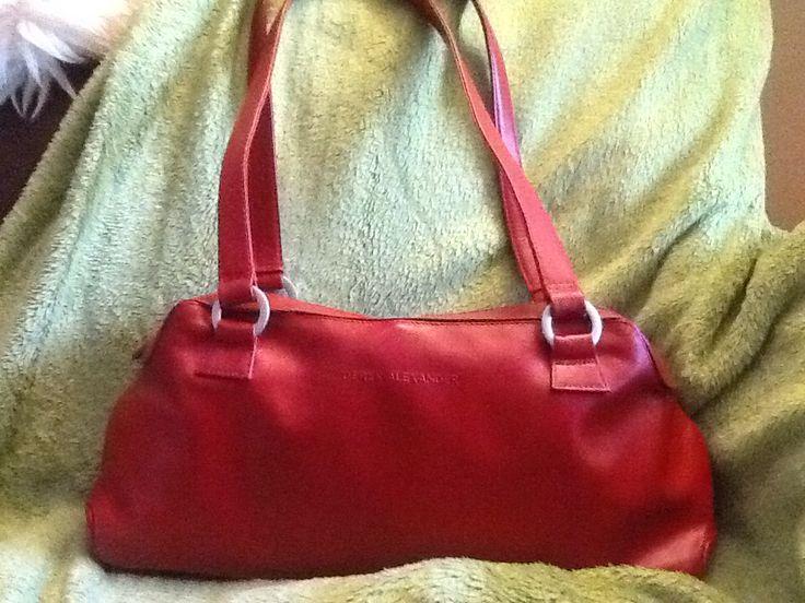 Derek Alexander Red Leather Shoulder Bag (Found at Value Village/Kitchener in EUC for $8.99)