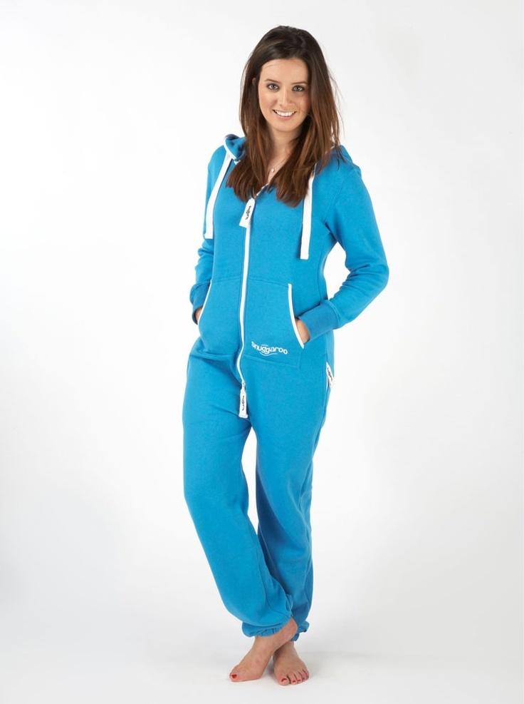 womens snuggaroo light blue onesie one piece jumpsuit. Black Bedroom Furniture Sets. Home Design Ideas