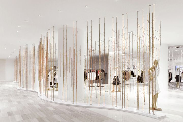 Saks Fifth Avenue installation by Unitfive Design Toronto  Canada