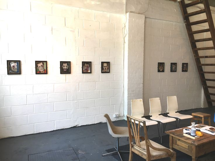 "Studio showcase of new paintings by: Kirtland Ash, 2017. ""Legendsofthefrozenpond"""