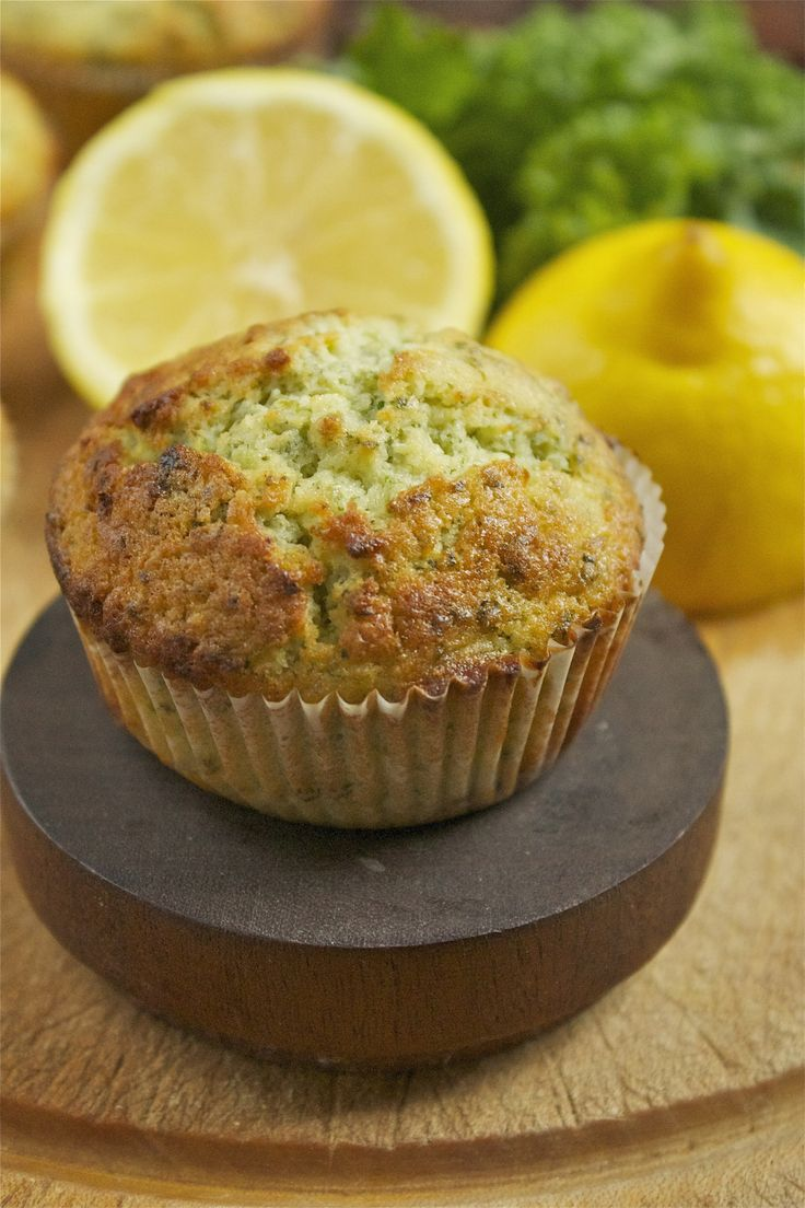 Lemon and Kale Muffins | Veggie Desserts    These lemon and kale muffins are zingy and delicious. The flavour of the kale fades away beneath the lemon, but leaves behind it's green goodness.