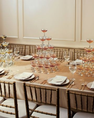 Mini Champagne towers for your reception tables
