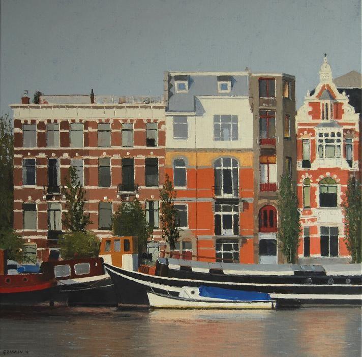 Amstel Amsterdam (80 x 80 cm) by Gineke Zikken