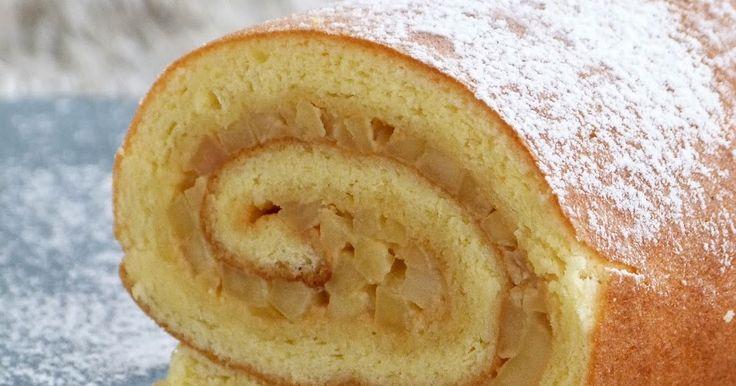 Chic, chic, chocolat...: Roulé aux pommes et caramel au beurre salé
