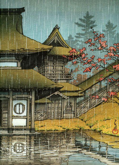 Llluvia - Ukiyo-e - Yama Sendai.-Hasui Kawase.-1933