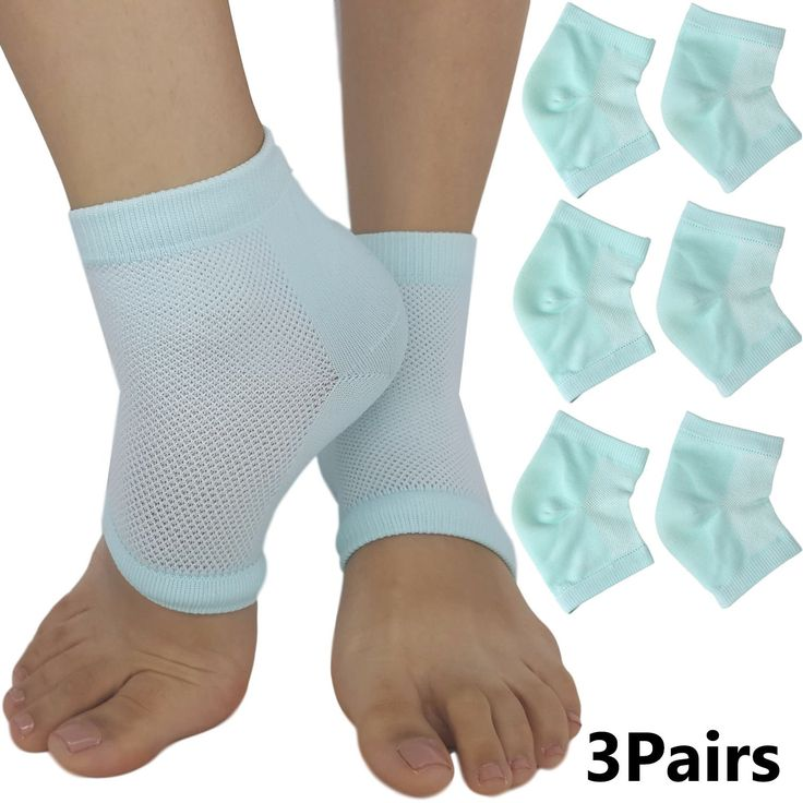 Moisturizing Heel Socks for Dry Cracked Heels Relief Stop the Pain of Cracking Feet (3 Pairs)
