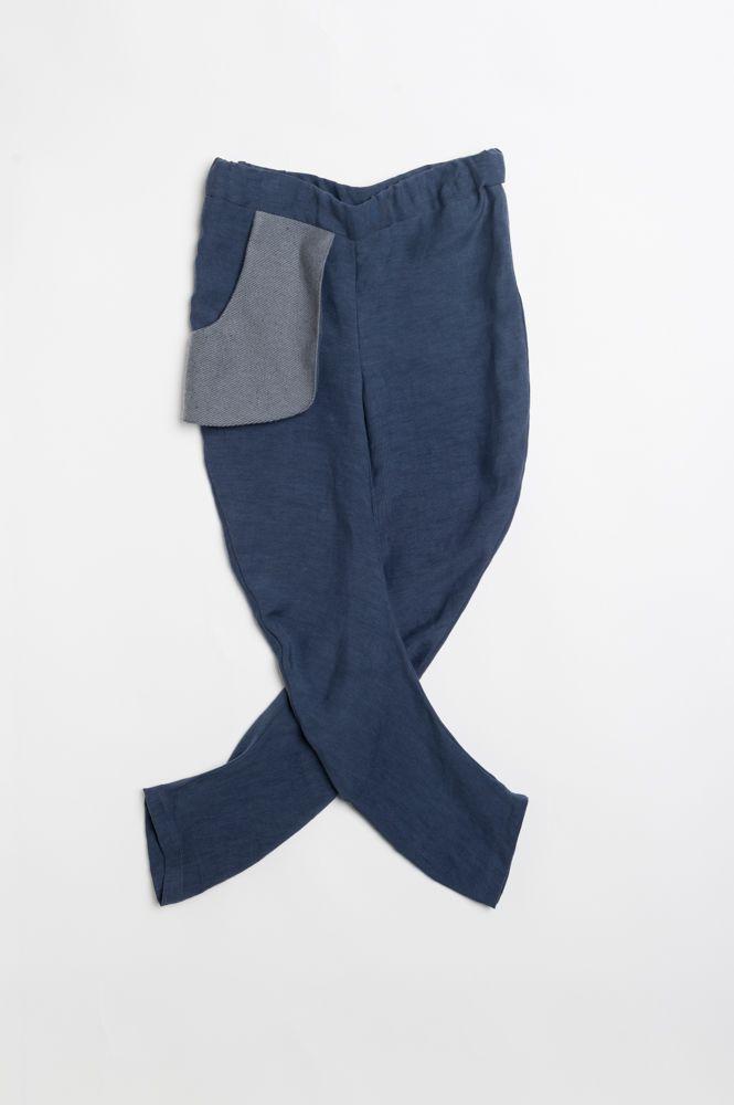 """74 € (cod. P2) Pantalone Ergonomico (gira a chiocciola) 100% Cupro (detto seta vegetale ricavato dal seme di coton)  taschino esterno in tessuto da cappotto """"Canapa"""" 2-8 anni"""