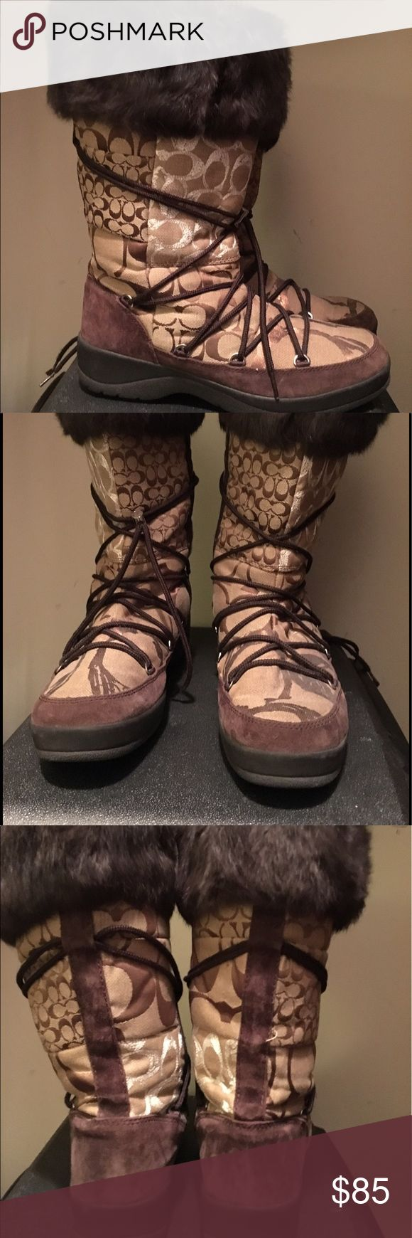 Authentic Coach Boots- Size 10 Like new condition. No visble wear, marks, or stains. Worn once or twice Coach Shoes Winter & Rain Boots
