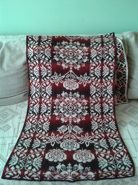 Ravelry: guntajar's Cherry on snow free pattern. Can be made from multiple techniques, fair isle and double knit included.