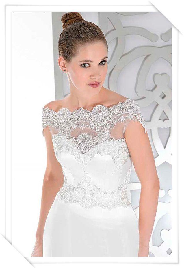 Escote ilusión vestidos de novia