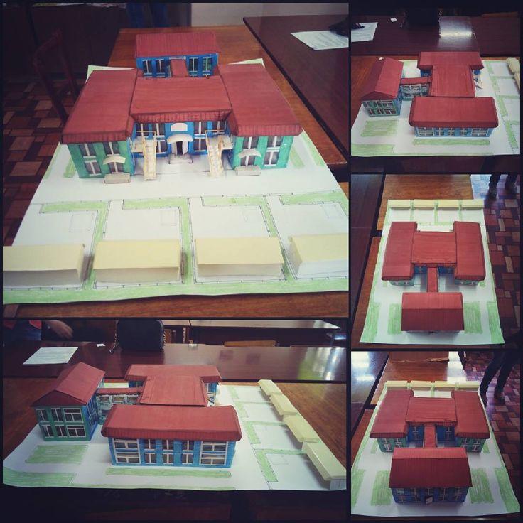 """«Проект-макет на тему """"мій приватний дитячий садок"""" #mywork #картонныйдомик #проект #проектдома…»"""