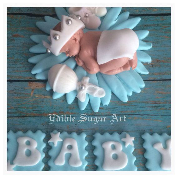 BABY SHOWER CAKE Topper Fondant baby boy Cake Topper Fondant Cake Topper baby girl