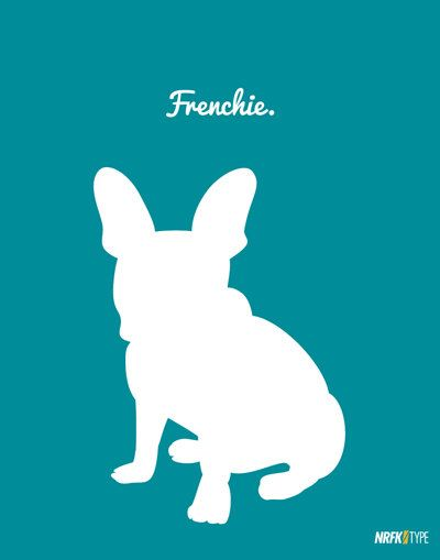 The Dog Series: French Bulldog Sitting Frenchie Dog Silhouette Vectorized Print Art on Etsy, $15.00